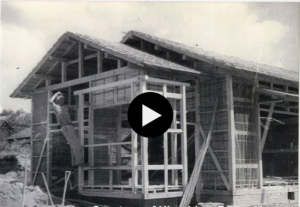 House being build in Hiroshima, 1947